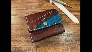 Making a Handmade Easy Wallet【Leather Craft】