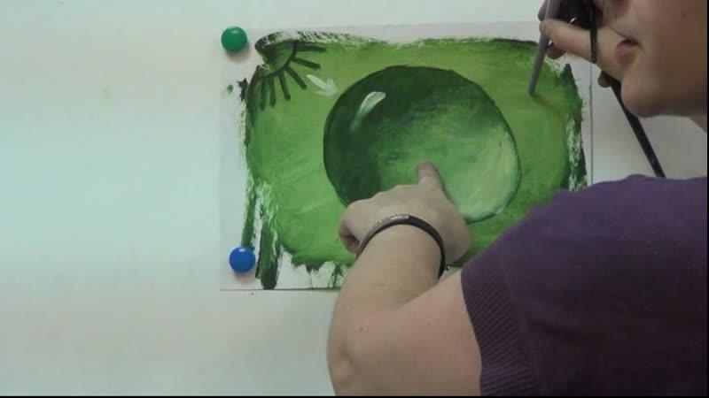 Видеоурок по живописи маслом Секреты рисования капли