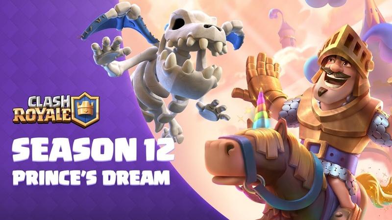 Clash Royale Season 12 The Prince's Dream 🌈🦄 New Card Skeleton Dragons
