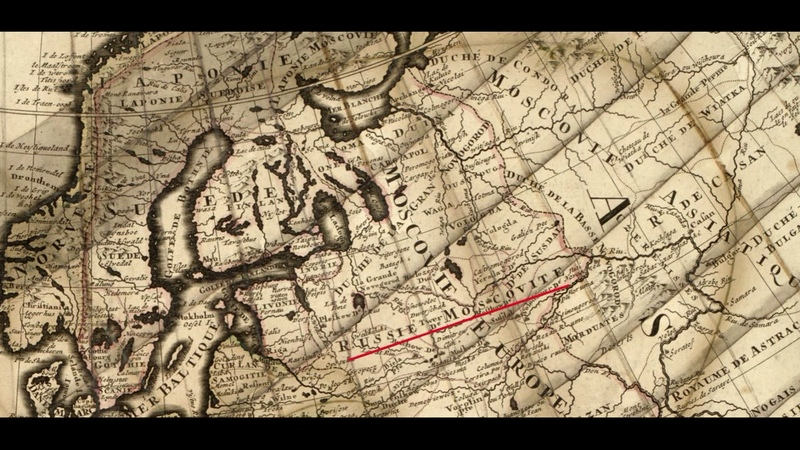 на карте 1708 года нет России