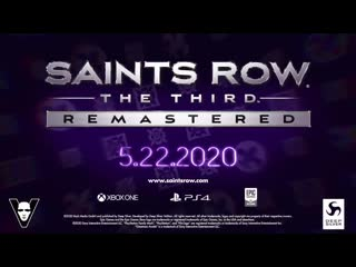 Saints Row: TheThird - Remastered Announce Trailer (Official)
