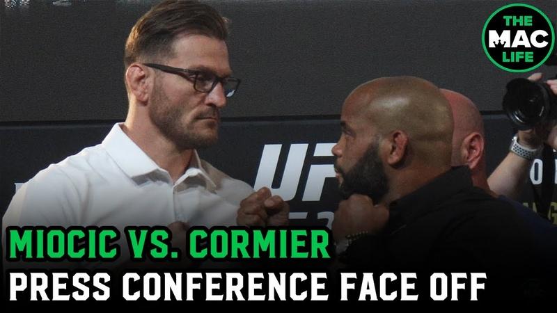 Stipe Miocic vs Daniel Cormier Face Off UFC 252 Press Conference