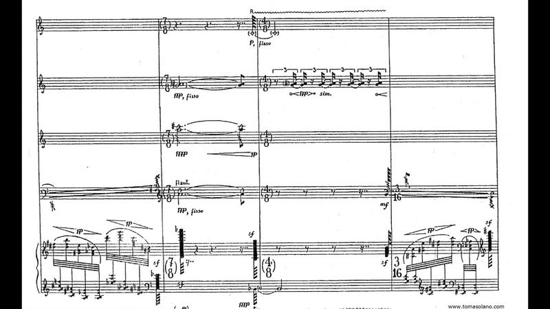Salvatore Sciarrino - Lo Spazio Inverso for Ensemble (1985) [Score-Video]