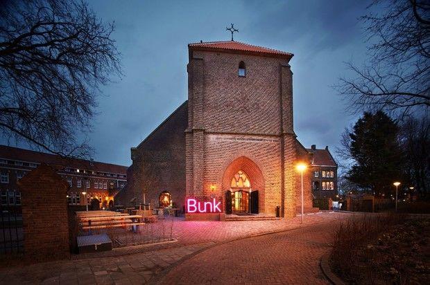 Отель в здании старой церкви в Амстердаме