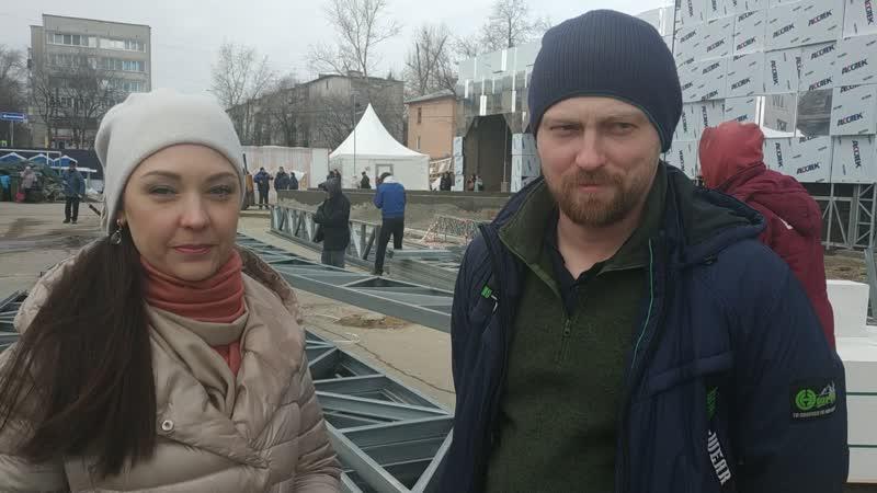 Конструктор и Валерия Викс на реконструкция здания на НижегородскойЯрмарке 26.02.2020