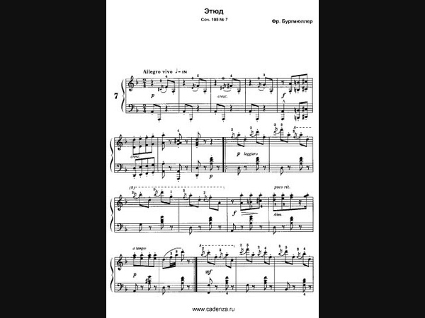 Burgmuller 12 Brilliant Studies Op.105 布爾格米勒12首練習曲