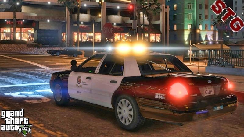 LAPD CVPI CITY NIGHT PATROL 135 GTA 5 REAL LIFE PC POLICE MOD 1 HOUR