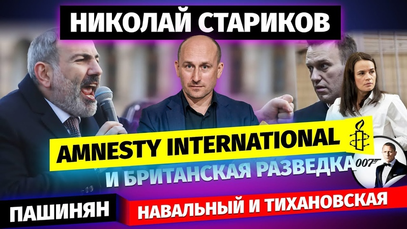 Николай Стариков Пашинян Amnesty International и британская разведка Навальный и Тихановская