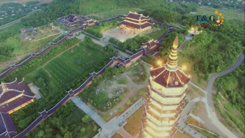 Bai Dinh Pagoda on Flycam Toàn cảnh ngôi chùa lớn nhất Đông Nam Á
