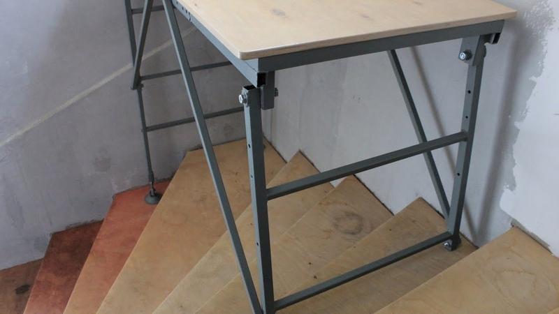 Удобные подмости и передвижной верстак ВСЕ в ОДНОМ Работа на лестницах ровном полу улице ч2 2