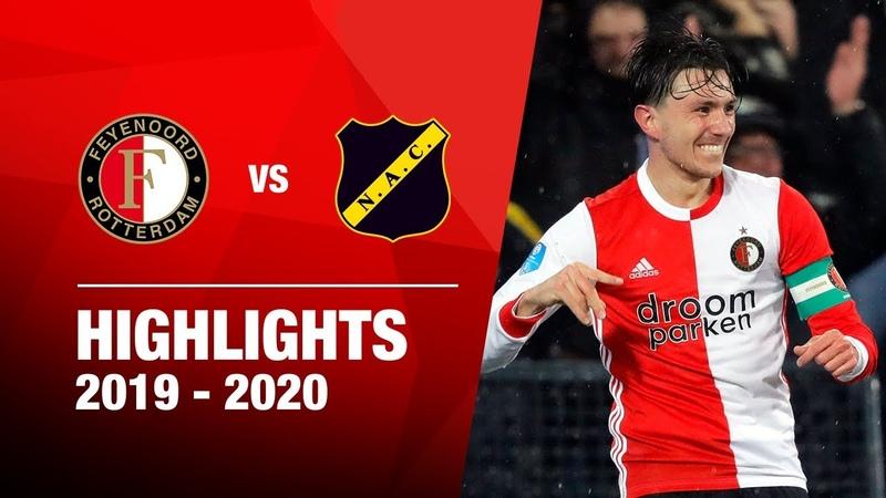 Feyenoord na ZEVENKLAPPER naar bekerfinale Highlights Feyenoord NAC Breda KNVB Beker