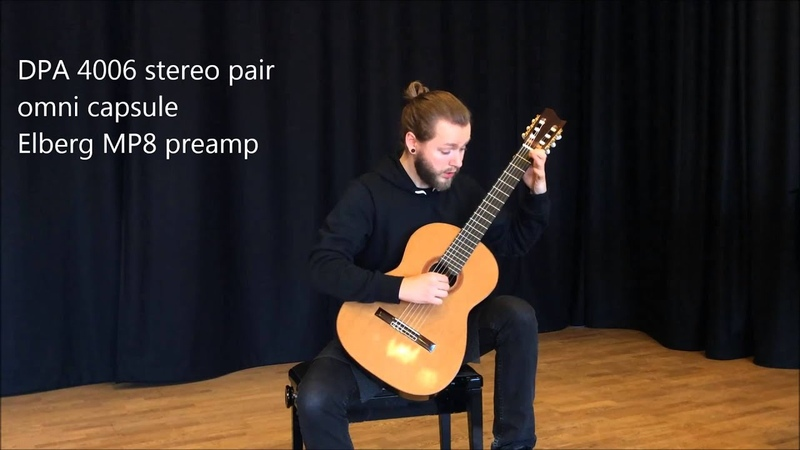 Microphone comparison test for classical guitar