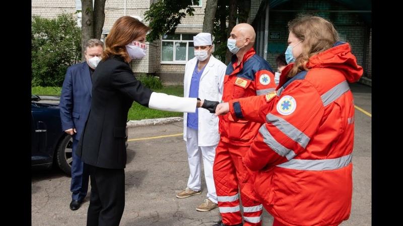 Марина Порошенко передала швейцарські ІФА тести та обладнання медичні заклади Київщини