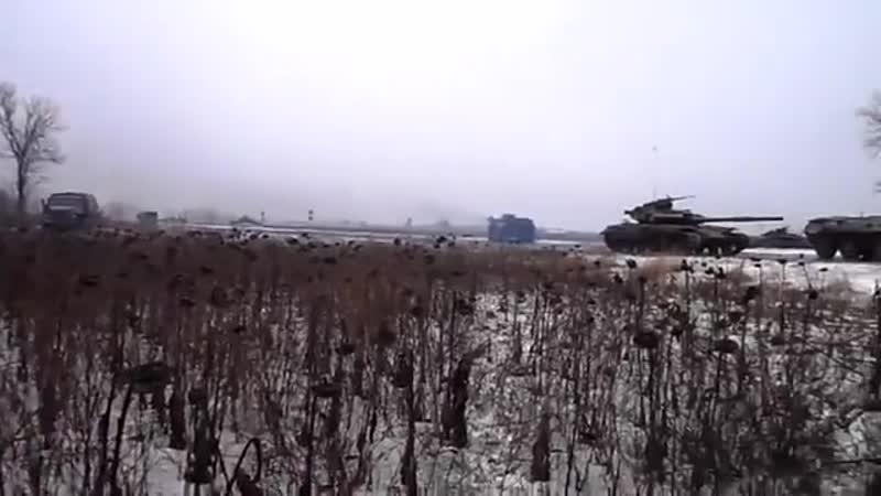 Донецк посёлок Спартак 22 января 2015 Начало разгрома колонны