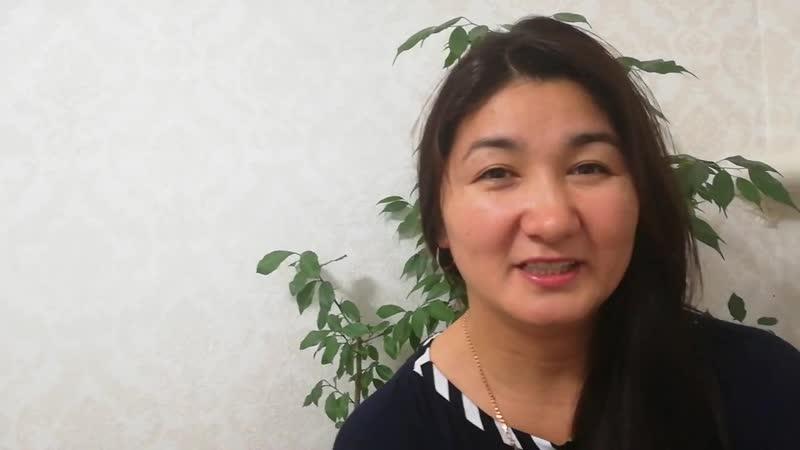 Видеоотзыв на тренинг Аделя Гадельшина от Бисембаевой Зарины
