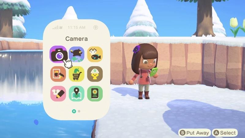 Nook Phone in Animal Crossing New Horizons New Website Clip