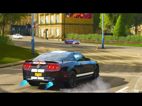 Forza Horizon 4 526HP Ford Shelby GT500 Logitech Steering Wheel Shifter Gameplay