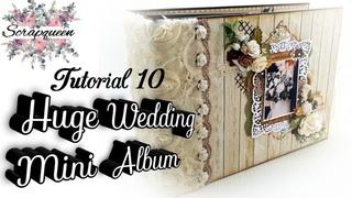 Tutorial 10# Beautiful Huge Interactive Wedding Mini Album (12x8,5inch)