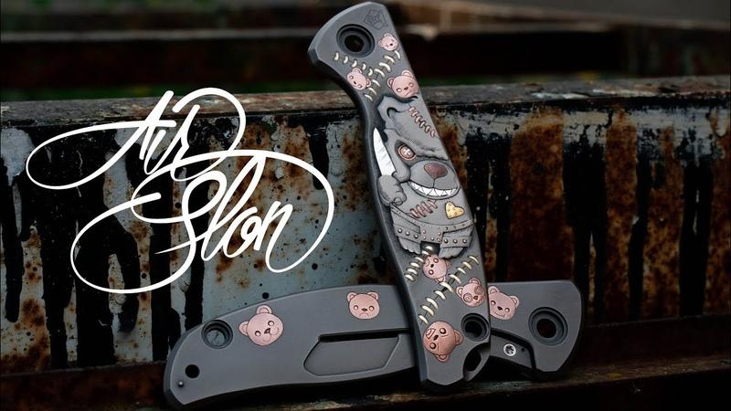 Hand engraving Shirogorov Knife