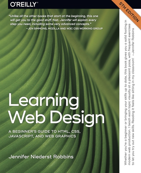Learning Web Design A Beginner's Guide to HTML, CSS, JavaScript, and Web Graphics by Jennifer Niederst Robbins