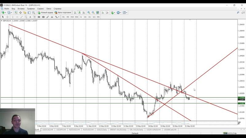 Аналитика рынка Forex без воды 21.05.2020 от Ярослава Мудрого (EUR/USD, BRENT, GOLD, AUD/USD)