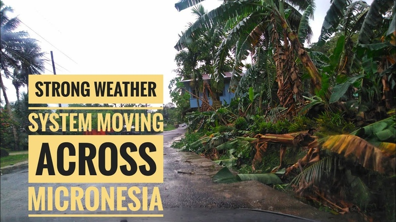 Latest weather update in Pohnpei Clips from the wind and rain last night