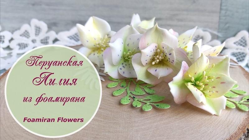 Перуанская лилия из фоамирана фантазия на тему альстромерии Foamiran flowers tutorial