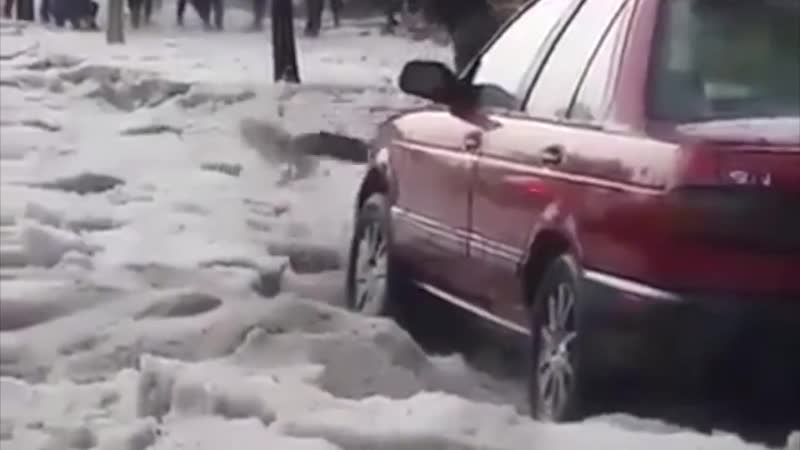 Heavy Rain in Addis Ababa resulted in Snow Fall