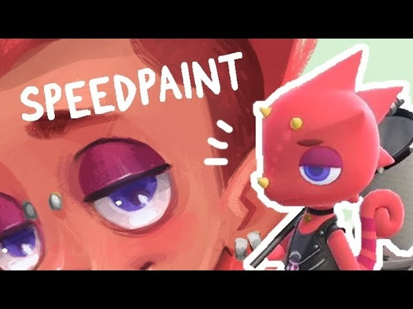 Animal Crossing Gijinka Flick Speedpaint