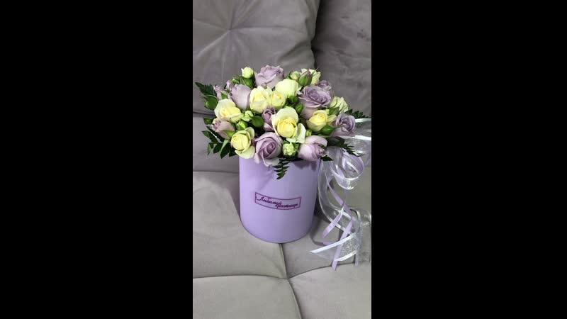 Мини-коробочка для любимой крестницы 😊🥰 Состав Кустовая Роза в ассортименте Зелень 1200₽
