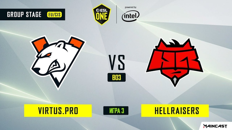 Virtus.pro vs HellRaisers - Game 3, Group A - ESL One Los Angeles 2020 - Online Championship