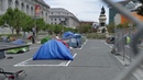 Safe space during COVID-19 | Tent camp for homeless opens near San Francisco City Hall