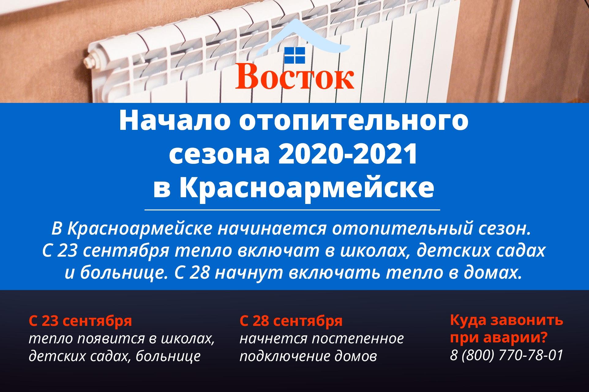 Начало отопительного сезона 2020-2021 в Красноармейске