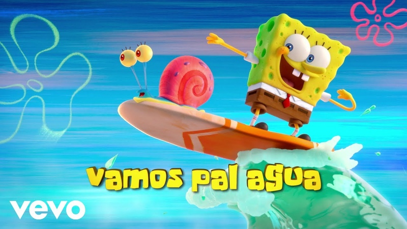 Tainy J Balvin Agua Music From Sponge On The Run Movie Lyric Video