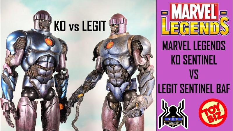 Marvel Legends KO SENTINEL vs ToyBiz Sentinel BAF Comparison Video