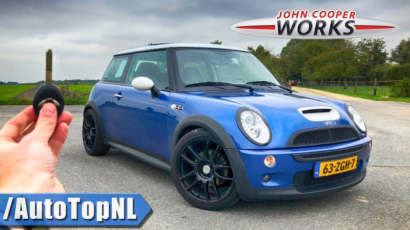 2004 MINI Cooper S JCW R53 TUNING KIT REVIEW POV on AUTOBAHN NO LIMIT ROAD by AutoTopNL