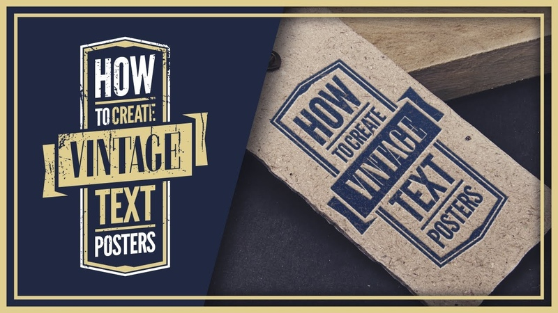 Create Vintage Text Posters with inkscape