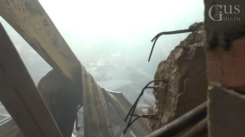 Уничтоженный огнём клуб им Ленина при свете дня Первые кадры зрительного зала 1 июля 2020 г