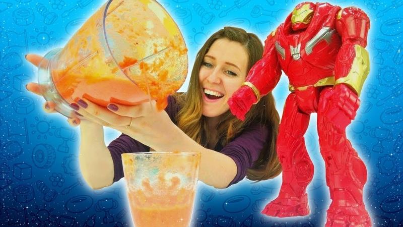 Cocina para niños con los superhéroes y otros juguetes. ¡Juegos de cocina! Las mejores recetas