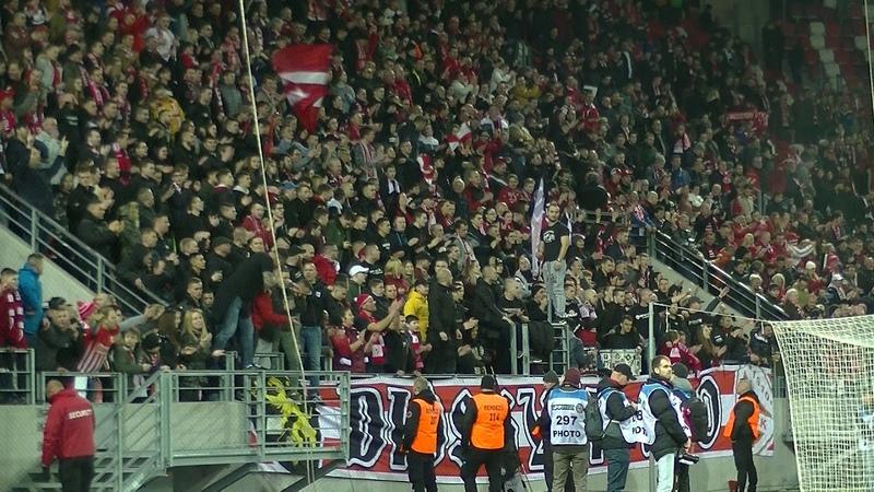 DVTK vs Újpest 19 20 Ünneplés a meccs után