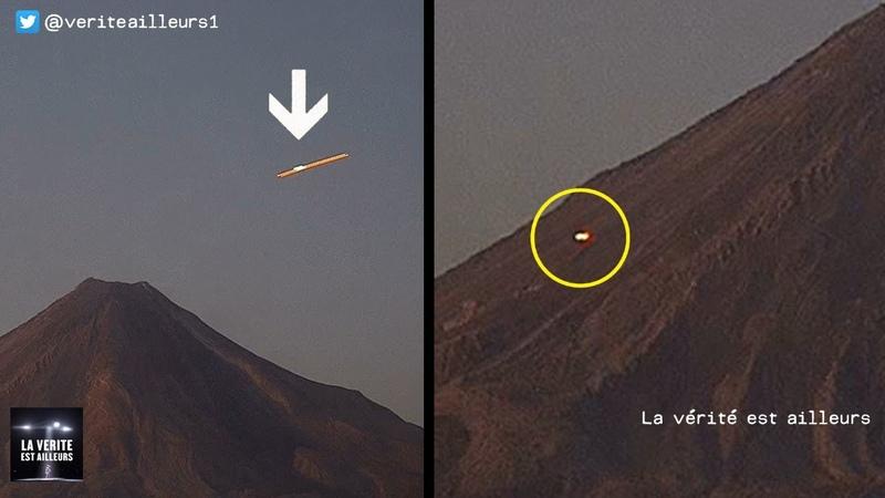 Un OVNI lumineux survole le Volcan Colima au Mexique