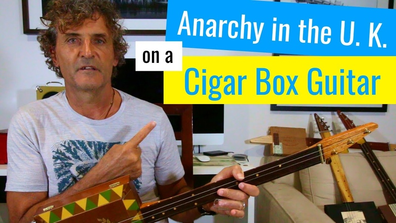 Anarchy in the U K by the Sex Pistols 3 string cigar box guitar lesson