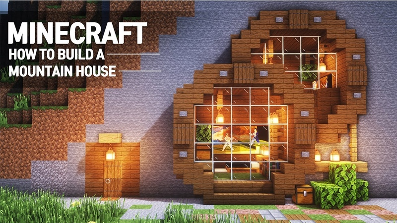 Minecraft : MOUNTAIN HOUSE TUTORIAL How to Build in Minecraft (66)