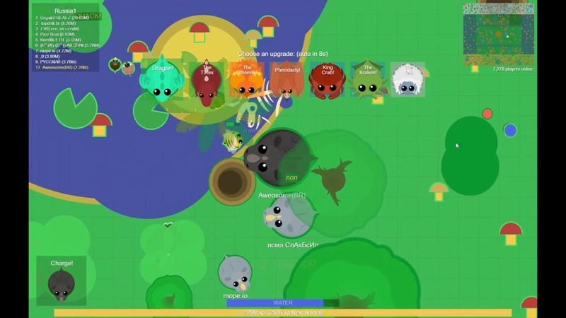 Чёрный носорог в деле! | Mope.io