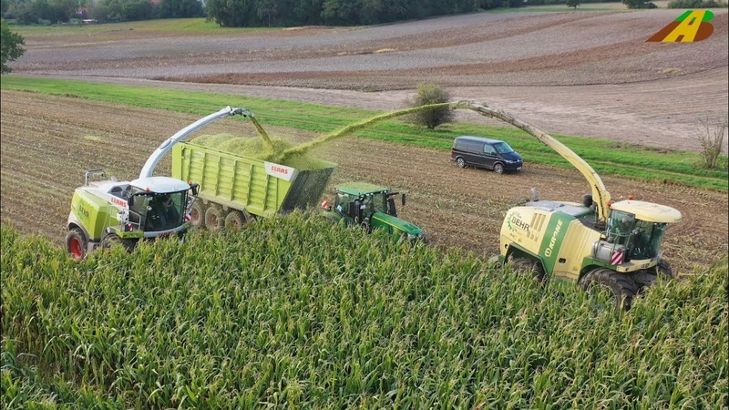 Großeinsatz Maishäckseln 2019 Krone BigX 850 Claas Jaguar 970 farmer corn harvest Maisernte