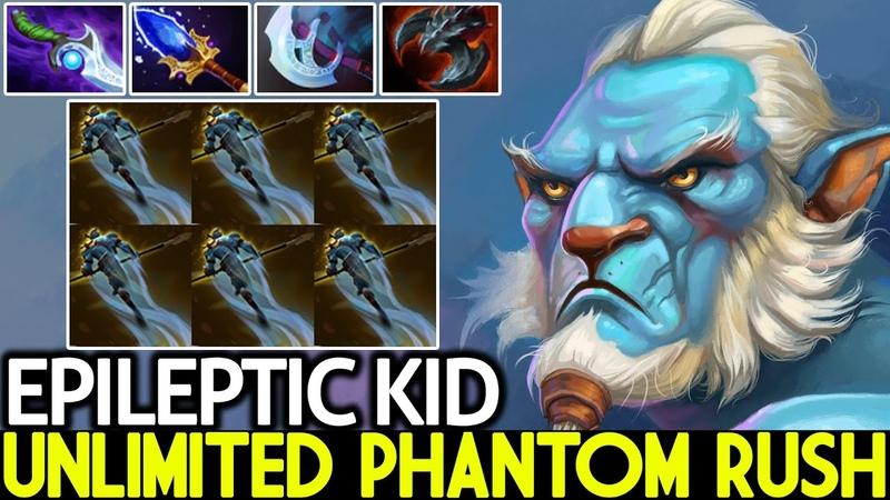 EPILEPTIC KID Phantom Lancer Unlimited Rush Scepter Lancer Dota 2