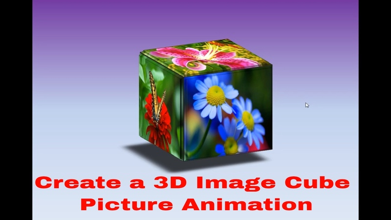 Create a 3D Image Cube Picture Animation in Powerpoint (Professional Trick)