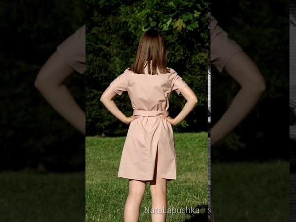 Хлопковое платье цвета пыльной розы на лето с АлиЭкспресс видео с примеркой