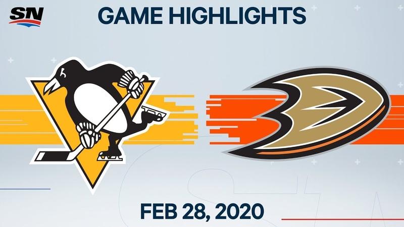 NHL Highlights Penguins vs Ducks Feb 28 2020