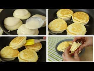 Невероятно нежные и воздушные! Японские Панкейки(Ингредиенты под видео)   Больше рецептов в группе Десертомания